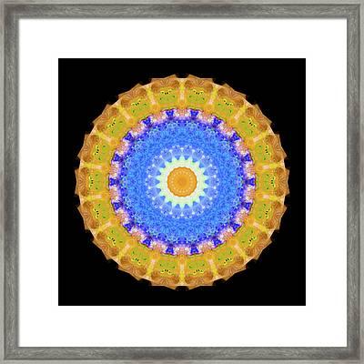 Sunrise Mandala Art - Sharon Cummings Framed Print by Sharon Cummings