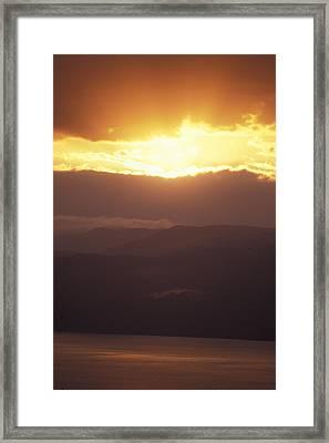Sunrise Of  Mount Nebo In  Jordan Framed Print by Richard Nowitz