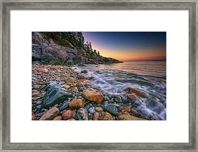 Sunrise On Little Hunters Beach Framed Print by Rick Berk