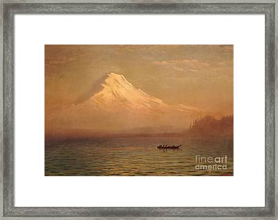 Sunrise On Mount Tacoma  Framed Print by Albert Bierstadt