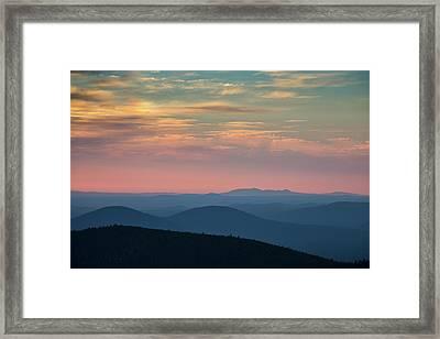 Sunrise On Paulina Peak Framed Print by Christian Heeb