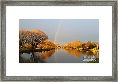 Sunrise On The Avon River  Framed Print by Joyce Woodhouse