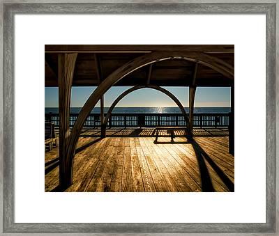 Sunrise On Tybee Island Framed Print by Steven  Michael