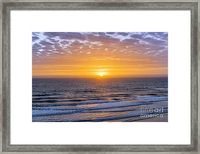 Sunrise Over Atlantic Ocean Framed Print by Elena Elisseeva
