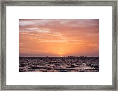 Sunrise Over Fort Myers Beach Framed Print by Scott Pellegrin