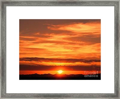 Sunrise Over Jeddah Framed Print by Graham Taylor