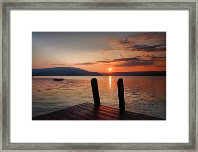 Sunrise Over Keuka IIi Framed Print by Steven Ainsworth