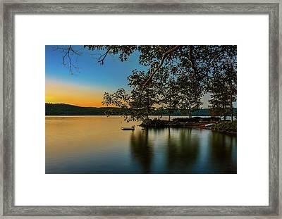 Sunrise Over Lake George Framed Print by Mac Titmus