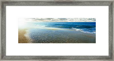 Sunrise Over Pacific Ocean, Lands End Framed Print by Panoramic Images