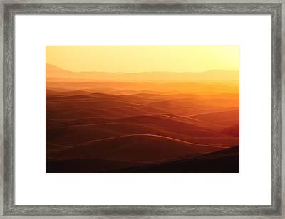 Sunrise Over Palouse Framed Print by Todd Klassy