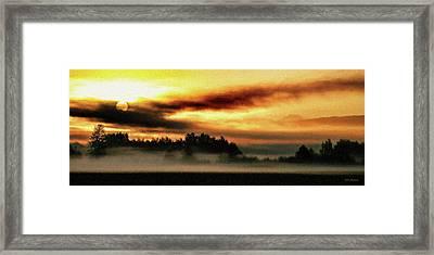 Sunrise Over The Cascades Framed Print by DMSprouse Art