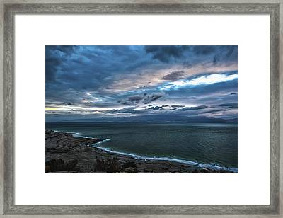 Sunrise Over The Dead Sea Israel Framed Print by Reynold Maines