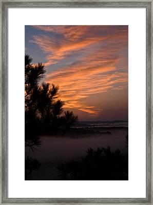 Sunrise Over The Mist Framed Print by Douglas Barnett