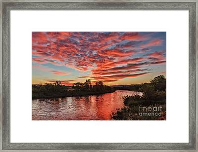 Sunrise Over The Payette Framed Print by Robert Bales