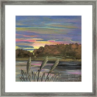 Sunrise Over The Ponds Framed Print by Anna Folkartanna Maciejewska-Dyba