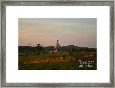 Sunrise Postcard Style Photo Framed Print by William Rogers