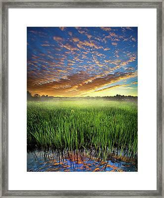 Sunrise Reflected Framed Print by Phil Koch