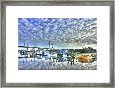 Sunrise Reflections Tybee Island Georgia Framed Print by Reid Callaway