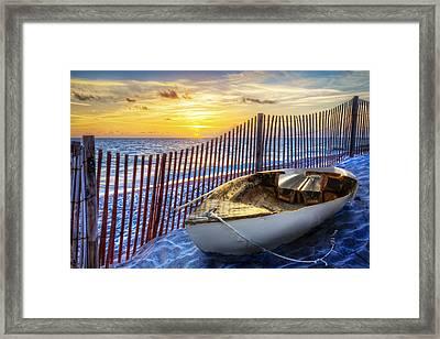 Sunrise Sail Framed Print by Debra and Dave Vanderlaan