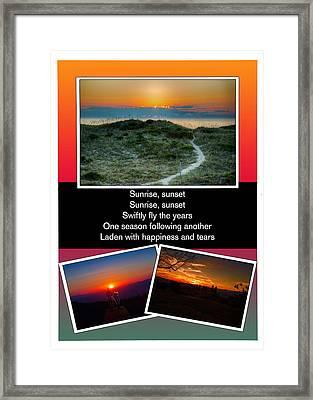 Sunrise Sunset Framed Print by John Haldane