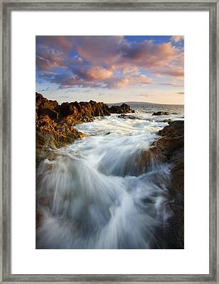 Sunrise Surge Framed Print by Mike  Dawson