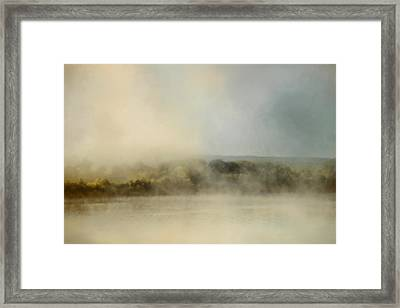 Sunrise Through The Fog Framed Print by Jai Johnson