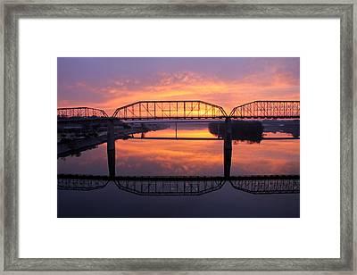 Sunrise Walnut Street Bridge 2 Framed Print by Tom and Pat Cory