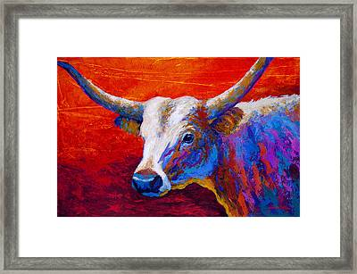 Sunset Ablaze Framed Print by Marion Rose