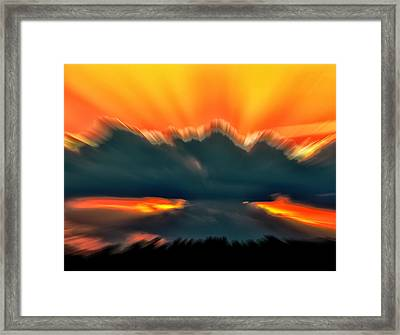 Sunset Abstract Framed Print by Chris Flees