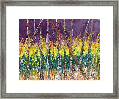 Sunset Abstract Pallet Knife Framed Print by Lisa Boyd