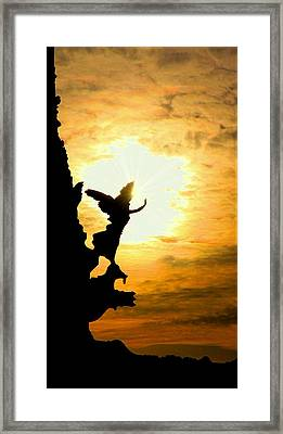 Sunset Angel Framed Print by Valentino Visentini