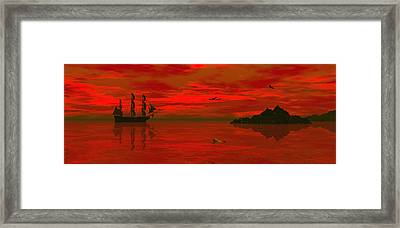 Sunset Arrival Framed Print by Claude McCoy