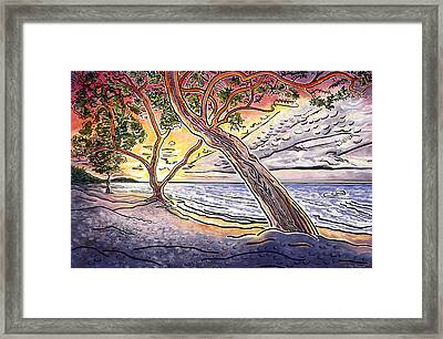 Sunset At Anaehoomalu Bay Framed Print by Fay Biegun - Printscapes