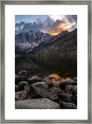 Sunset At Convict Lake Framed Print by Cat Connor