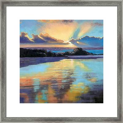 Sunset At Havika Beach Framed Print by Janet King