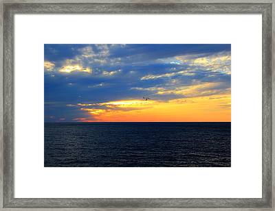 Sunset At Sail Away Framed Print by Shelley Neff