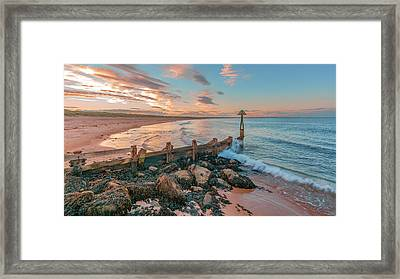 Sunset At Seaton Sluice Framed Print by John Brown