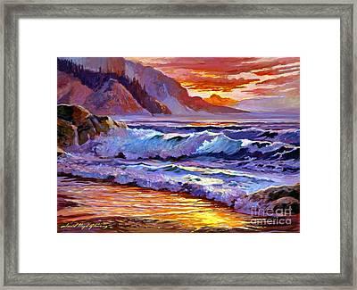 Sunset At Shipwreck Beach Framed Print by David Lloyd Glover