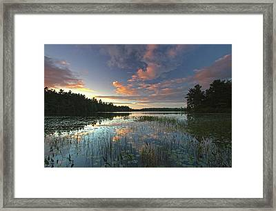 Sunset At Somes Pond Framed Print by Juergen Roth
