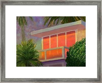 Sunset At The Beach House Framed Print by Karyn Robinson
