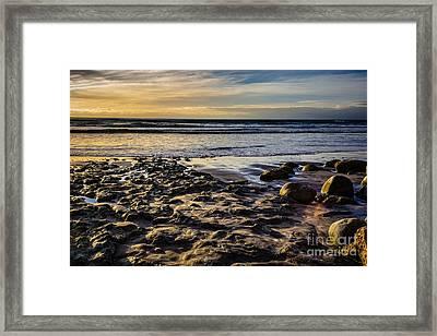 Sunset At The Beach Framed Print by Randy Bayne