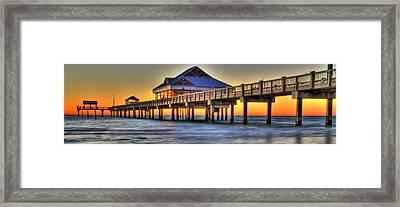 Sunset At The Pier Framed Print by Scott Mahon