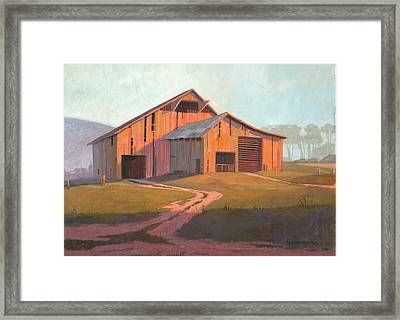 Sunset Barn Framed Print by Michael Humphries