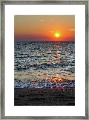 Sunset Beach Cape May Point New Jersey V  Framed Print by Terry DeLuco