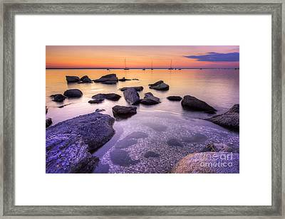 Sunset Beach Framed Print by Juli Scalzi