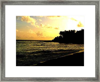 Sunset Beach Framed Print by Tai Clay