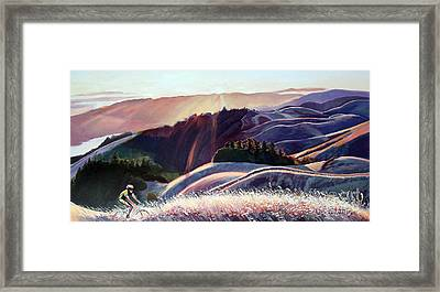 Sunset Bike Ride Framed Print by Colleen Proppe