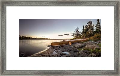 Sunset // Boundary Waters Canoe Area, Minnesota  Framed Print by Nicholas Parker