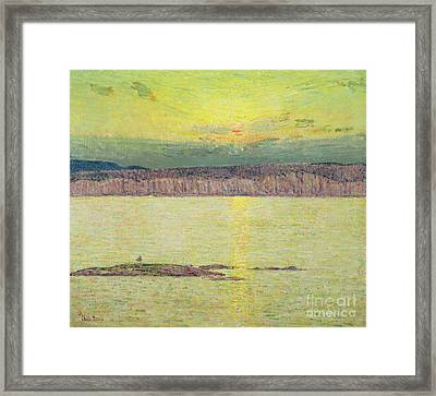 Sunset Framed Print by Childe Hassam