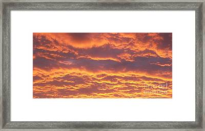 Sunset Clouds After The Storm Framed Print by Marsha Heiken